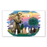 St Francis 2 - 7 Cats Sticker (Rectangle)