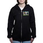 St Francis-10dogs Women's Zip Hoodie