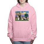 St Francis-10dogs Women's Hooded Sweatshirt