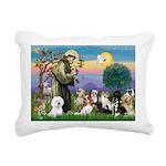 St Francis-10dogs Rectangular Canvas Pillow