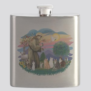 St Francis 2 - 7 Cats Flask