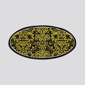 DAMASK2 BLACK MARBLE & YELLOW LEATHER (R) Patch