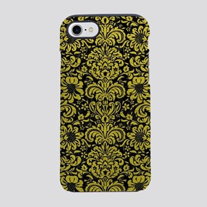 DAMASK2 BLACK MARBLE & YELLO iPhone 8/7 Tough Case