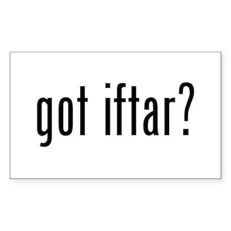 got iftar? Rectangle Sticker