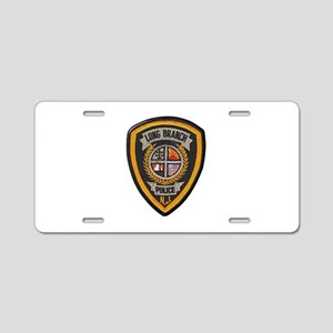 Long Branch Police Aluminum License Plate