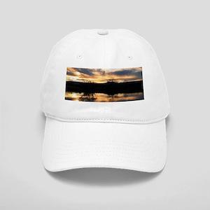 SUN REFLECTED ON LAKE Cap