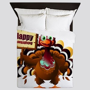 HappyThanksgiving Queen Duvet