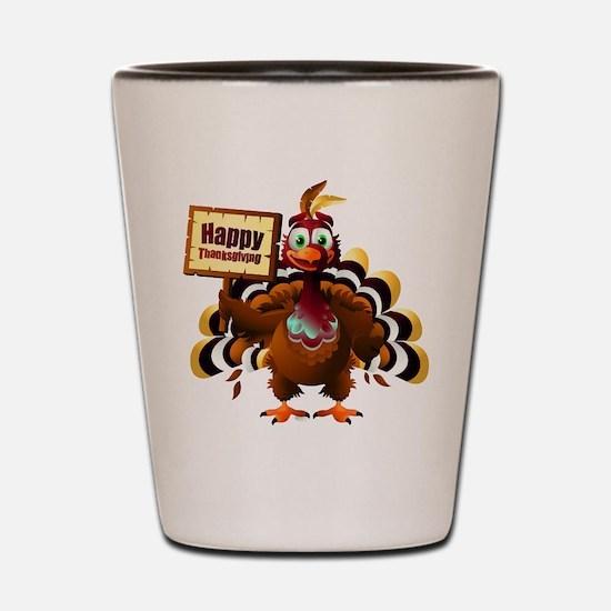 HappyThanksgiving Shot Glass