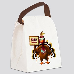 HappyThanksgiving Canvas Lunch Bag