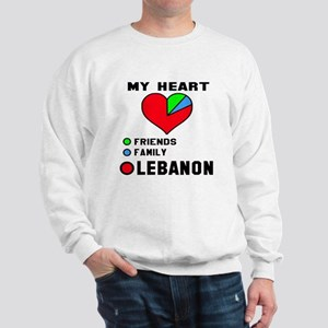 My Heart Friends, Family and Lebanon Sweatshirt