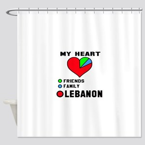 My Heart Friends, Family and Lebano Shower Curtain