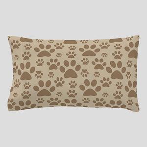 Dog Paw Prints Pillow Case