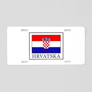 Hrvatska Aluminum License Plate