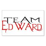 Team Edward Rectangle Sticker