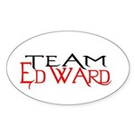 Team Edward Oval Sticker