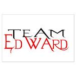 Team Edward Large Poster