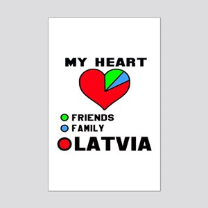 My Heart Friends, Family and Lat Mini Poster Print