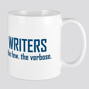 Writers the few the verbose Mugs