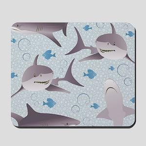 Sharks Graphic Design Mousepad