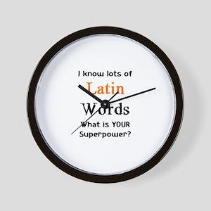 latin words Wall Clock