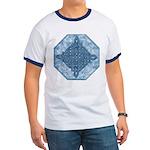 Celtic Knotwork Diamond (Aqua) Ringer T