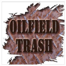 Oilfield Trash Rusted Riveted Metal  Poster