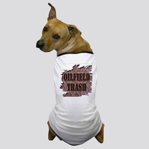 Oilfield Trash Rusted Riveted Metal  Dog T-Shirt