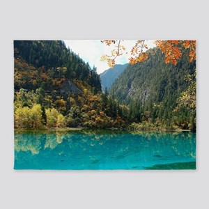 JIUZHAIGOU VALLEY 3 5'x7'Area Rug