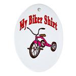 Biker Shirt Children's Clothes Oval Ornament
