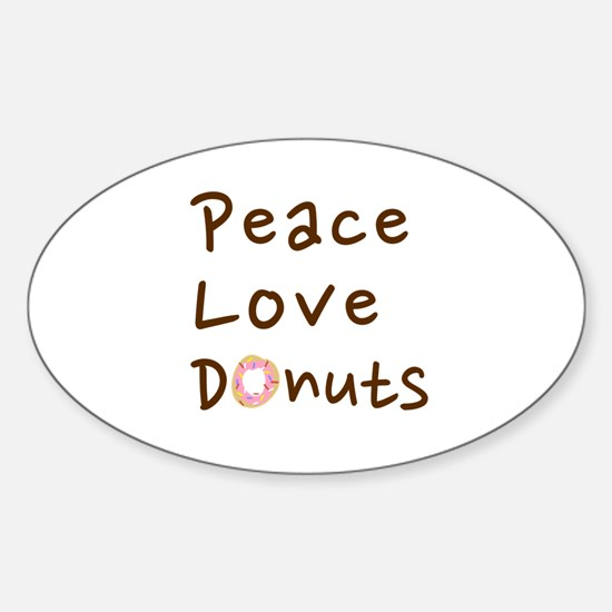 Peace Love and Chocolate Donuts Decal