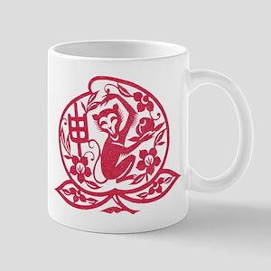 Chinese Papercut Zodiac Monkey Mug