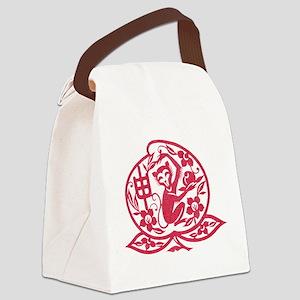 Chinese Papercut Zodiac Monkey Canvas Lunch Bag