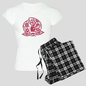 Chinese Papercut Zodiac Mo Women's Light Pajamas