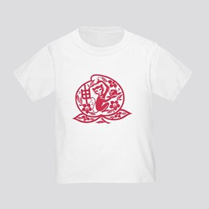 Chinese Papercut Zodiac Monkey Toddler T-Shirt