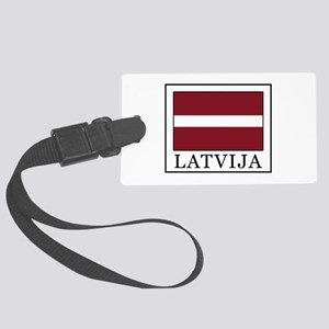 Latvija Large Luggage Tag