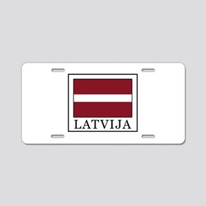 Latvija Aluminum License Plate