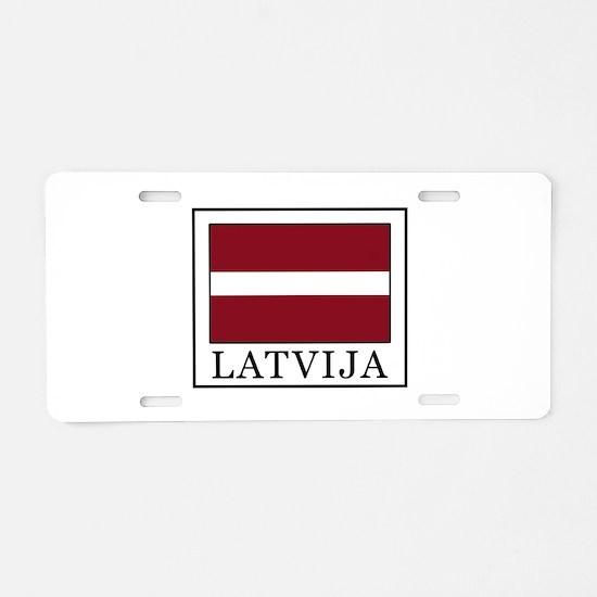 Latvija Aluminum License Plate