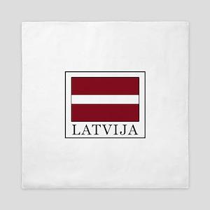 Latvija Queen Duvet