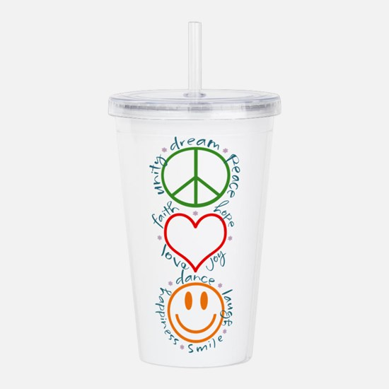 Peace Love Laugh Inspi Acrylic Double-wall Tumbler