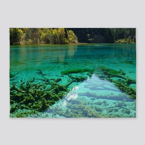 JIUZHAIGOU VALLEY 2 5'x7'Area Rug
