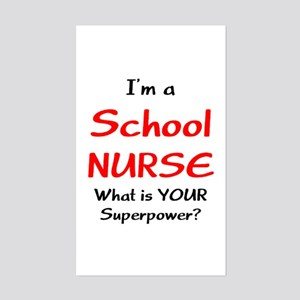 school nurse Sticker (Rectangle)