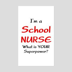 school nurse Sticker (Rectangle)