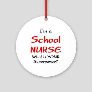 school nurse Ornament (Round)