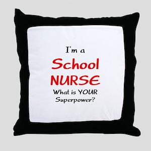 school nurse Throw Pillow