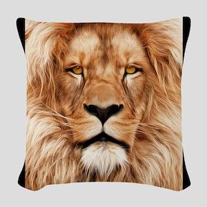 Lion - The King Woven Throw Pillow