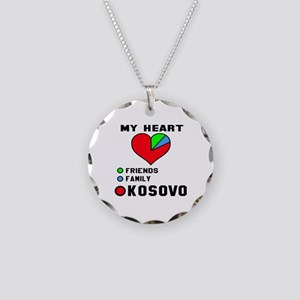 My Heart Friends, Family and Necklace Circle Charm