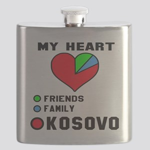 My Heart Friends, Family and Kosovo Flask