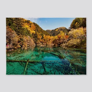 JIUZHAIGOU VALLEY 1 5'x7'Area Rug