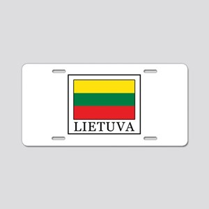 Lietuva Aluminum License Plate