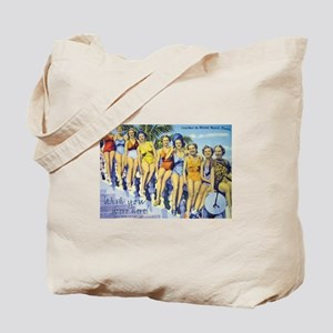 Wish you were here! Beach Tote Bag